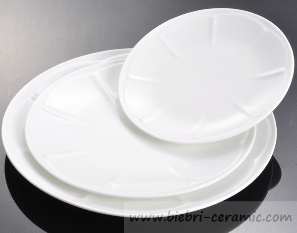 6 Inch Hotel And Restaurant Pure White Porcelain Round Plates With ...