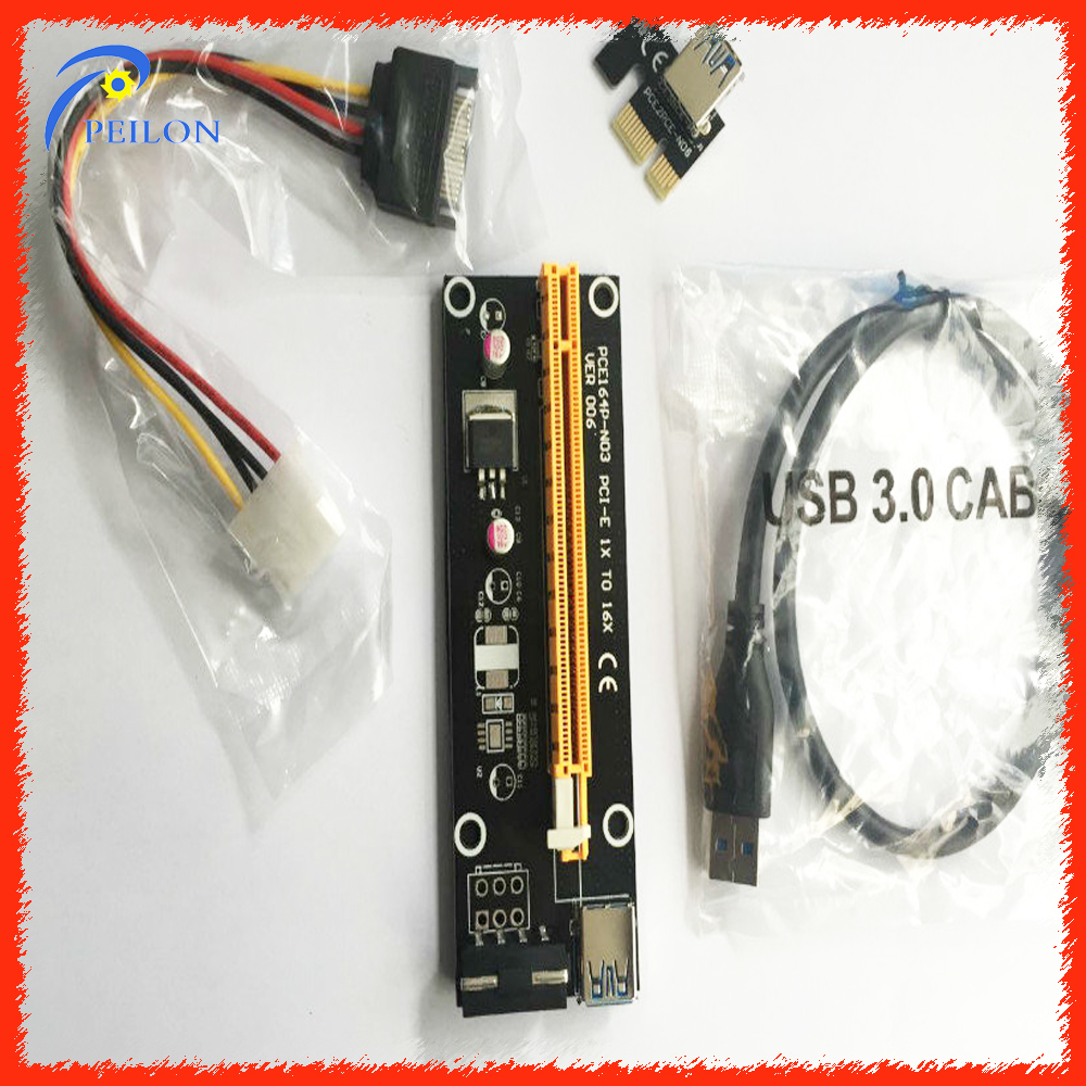 Pcie risers 4pin/6pin molex risers for mining bitcoin