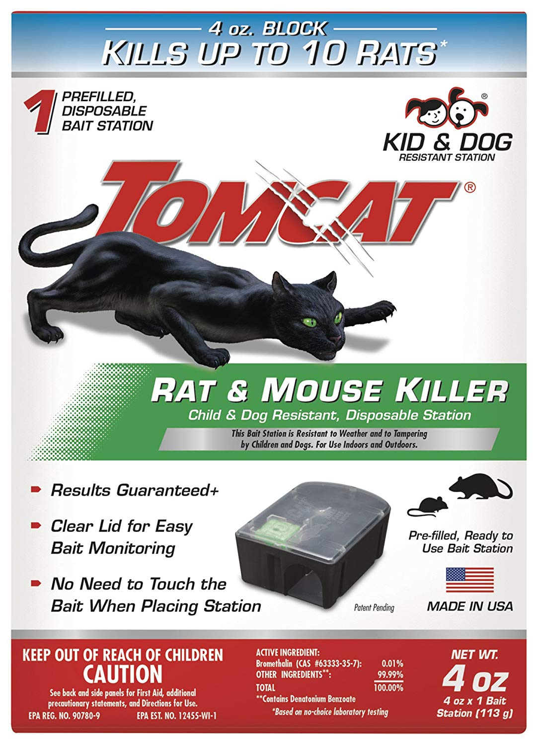 Tomcat 0370510 Tier 1 Disposable Rat & Mouse Bait Station