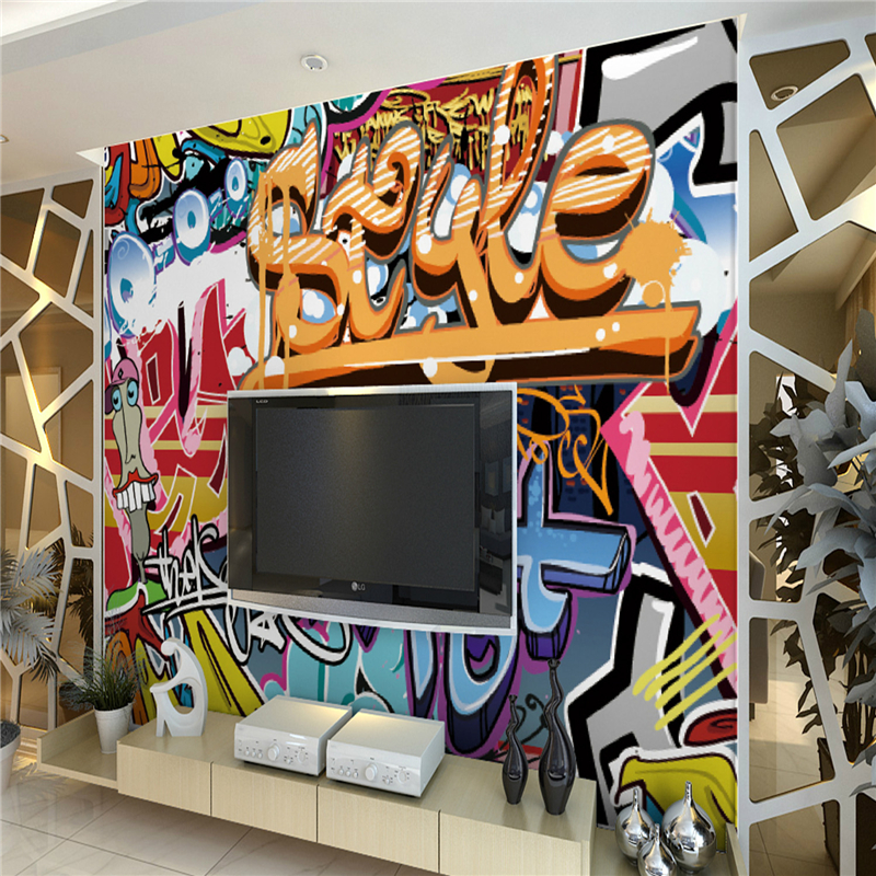 hohe qualit t gro handel graffiti wand papier aus china graffiti wand papier gro h ndler. Black Bedroom Furniture Sets. Home Design Ideas
