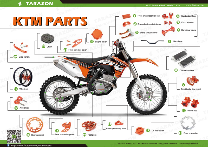 FUNCTIONAL DIRT OFFROAD MOTOCROSS BIKE PARTS AND ACCESSORIES FOR PITBIKE 2f613ff18855