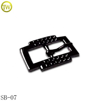 Custom black small pin shoe buckle double sides metal pin buckle for belt