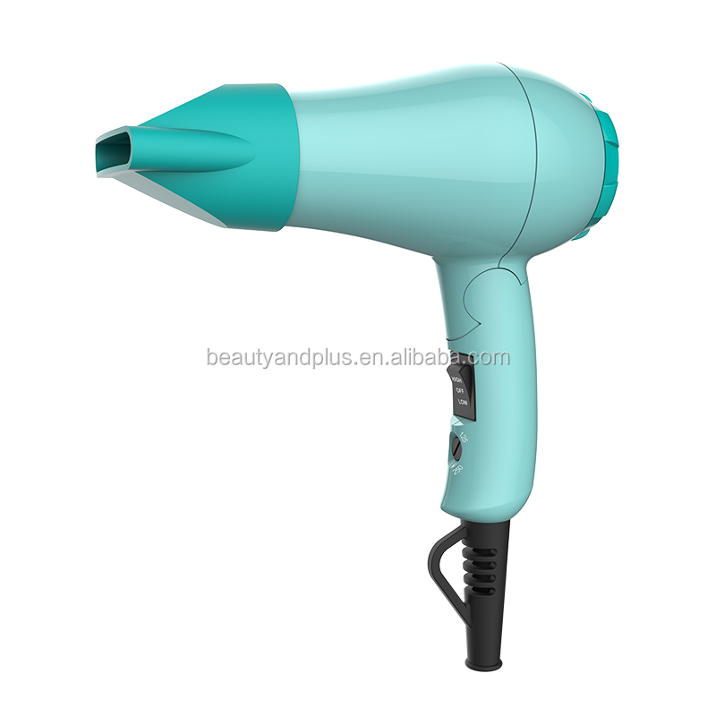Green Professional Mini Travel Hair Dryer With Diffuser