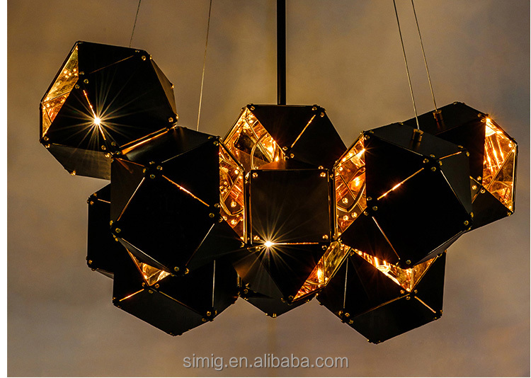 Postmodern designer Metal Creative Nordic Chandelier for Restaurant Bar decoration