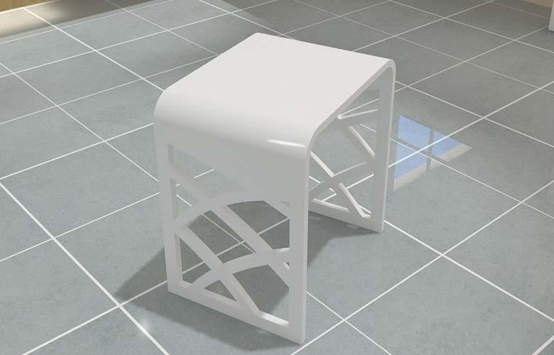 Kc bianco acrilico doccia sedile doccia in resina sgabelli