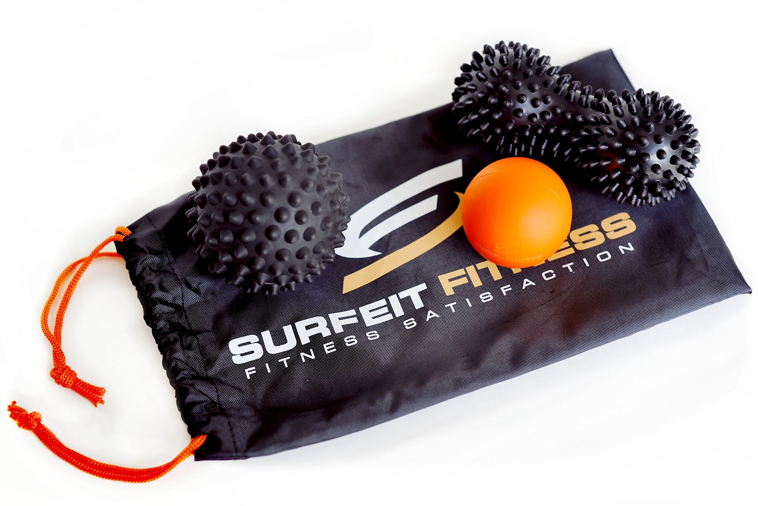 Surfeit Fitness Massage Balls, Set of 3 Massage Balls, Yoga balls for Trigger Point and Myofascial Release- Soft, Medium, Hard - Specifically Designed for Cross Training, Mobility, Warm Up, Recovery