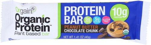 Orgain Organic Protein Bar, Peanut Butter Chocolate Chunk, Gluten Free, Non-GMO, USDA Organic, 1.41 Ounce, 12 Count