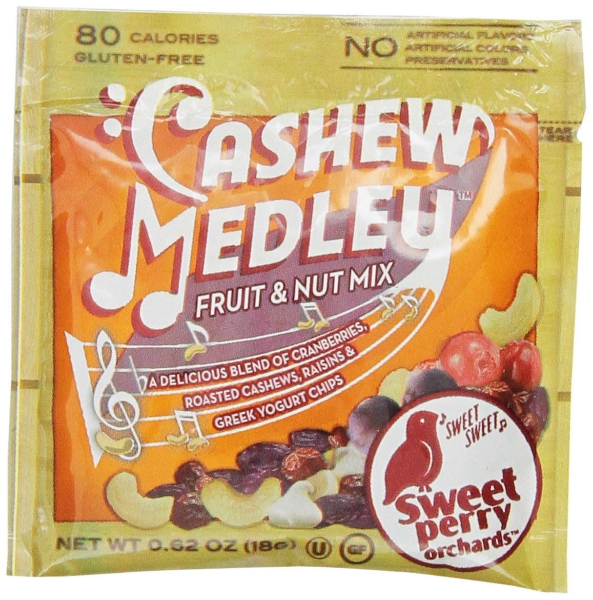 GoPicnic Sweet Perry Orchards Cashew Medley Fruit & Nut Mix, Snack Packs, 10 Count