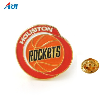 Promotional Wholesale Crafts Soft Magnetic Sports football Metal Enamel Badge Pin