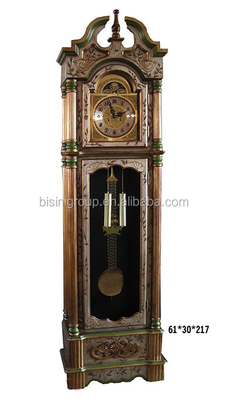 Luxury Antique Gold Painted Grandfather Clock Made in European Style BF11-03281a