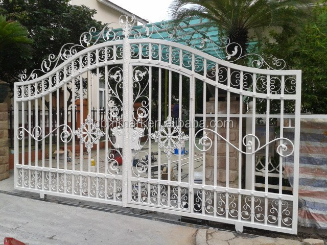 Door Iron Gate Design With White Color U657