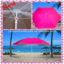 2012 hot sale pink promotional beautiful beach umbrella