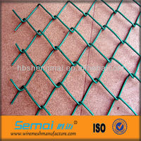 2012 Hot Sale Anping Factory PVC Coated Galvanized Black Vinyl Chain Link Fencing (ISO9001:2008,MANUFACTURER)