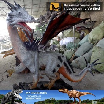 My-dino outdoor resin animatronic dragon statues