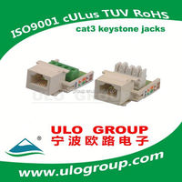 Top quality rear mount fast ethernet cable connector manufacturer ulo group -021