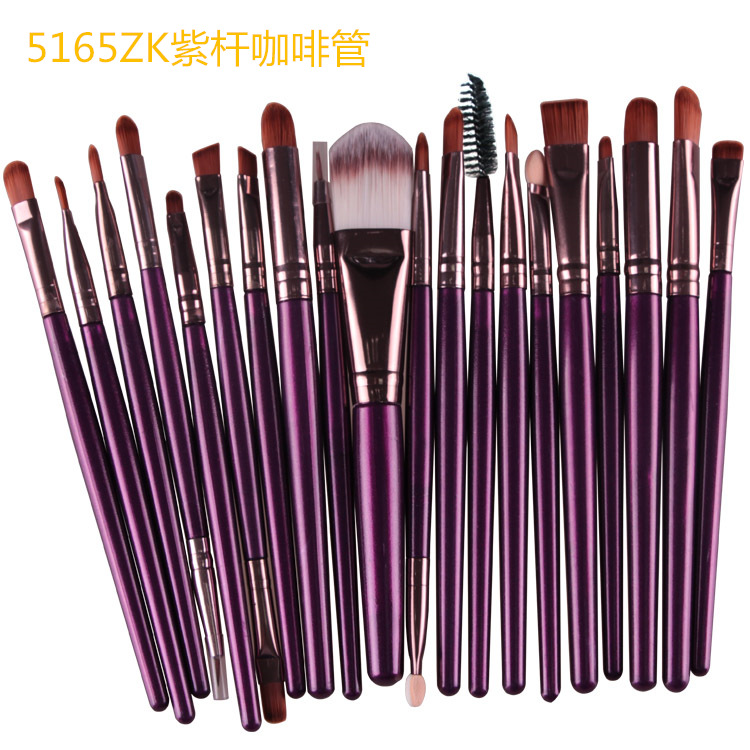 Make up private label 20 pezzo occhio cosmetici make-up brush set