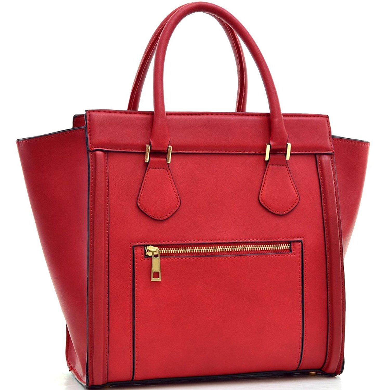 e9129ec95 Get Quotations · Dasein Women's Handbags Satchel Bags Vegan Leather  Handbags Tote Micro Luggage