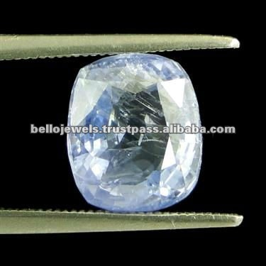 4.65 Ct Natural Cushion Cut Untreated Ceylon Blue Sapphire