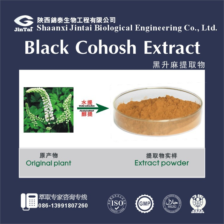 2.5% 5% 8% triterpenoid saponins black cohosh extract powder