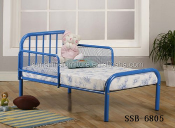 Modern Kids Bedroom Furniture Metal Toddler Bed With Rails,In 53\