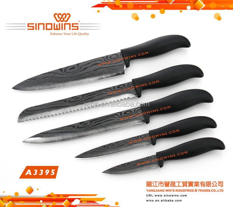 ABS Handle Stainless Steel Kitchen Knife Set / ABS Griff Edelstahl Kuche  Messer