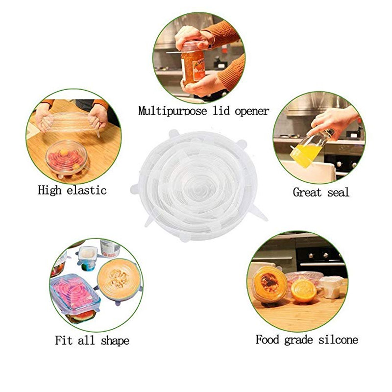Reusable 낯 짝 실리콘 랩 Food 급 Silicone 식품 랩