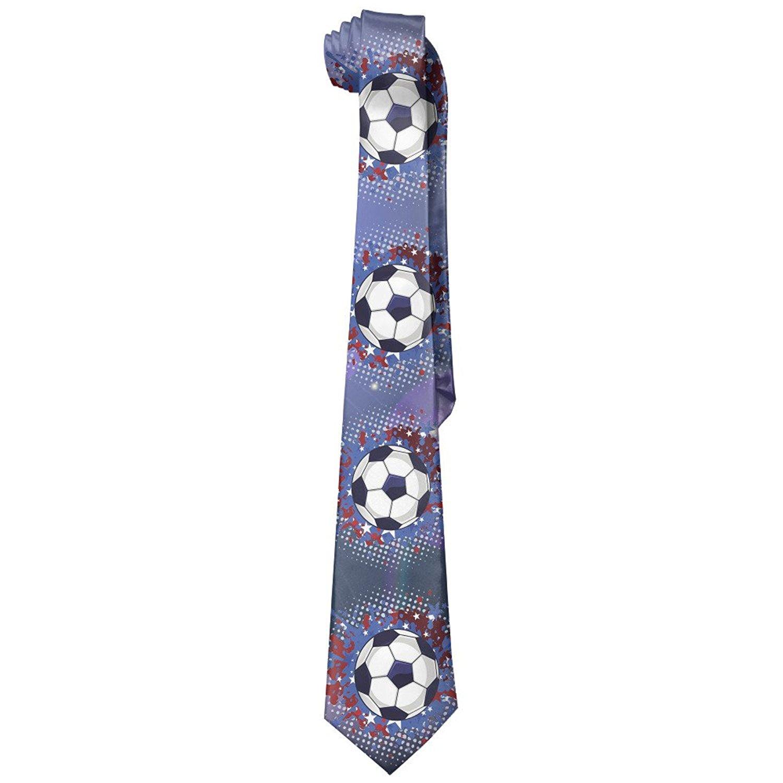 b0498f3fd Get Quotations · Soccer Football Red And Blue Splash Men s Polyester Silk  Wide Ties Necktie Necktie Ties