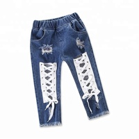 New 2018 Hot Fashion Girl Jeans Hollow Out Cool Pants