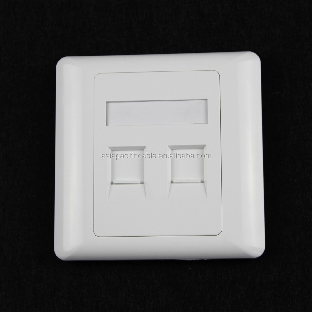 OEM Manufacturer 86 X 86mm Network Faceplate Dual Ports Arc Wall Information Face Plate Excellent Technology