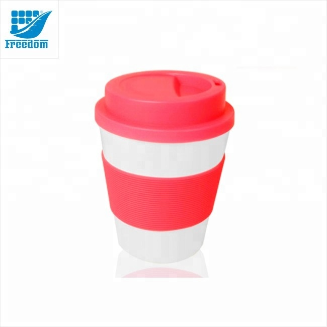 Hot Sale High Quality Ceramic Coffee Mugs with Rubber/ Silicone Lids