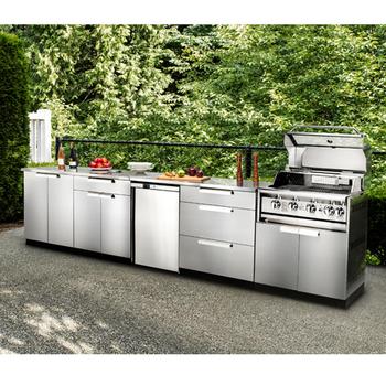 Stainless Steel Waterproof Modern Outdoor Kitchen Cabinet Furniture Set -  Buy Outdoor Kitchen,Kitchen Set,Modern Kitchen Product on Alibaba.com