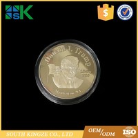Gold plated make america great again 45th US president Donald Trump metal coin