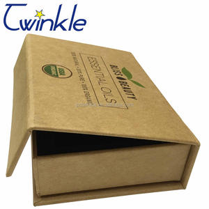 Small recycled custom made brown Kraft paper box packaging