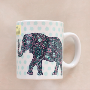 Elephant cute animal design ceramic cheap bulk coffee mugs
