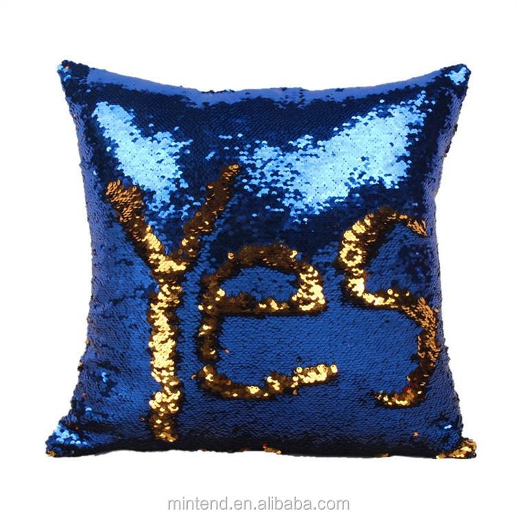 Wholesale 2017 Cute Mermaid Cushion Cover Sequin Pillow