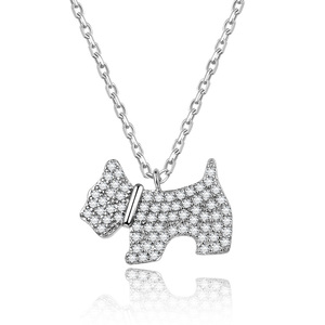 POLIVA Shipping Free Dog Necklace Pendant 925 Sterling Silver Rhodium Plated Necklace Fashion