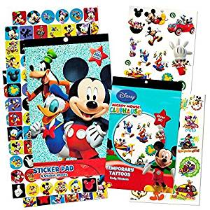 Mickey Mouse Stickers & Tattoos Party Favor Pack (200 Stickers & 50 Temporary Tattoos) by Disney