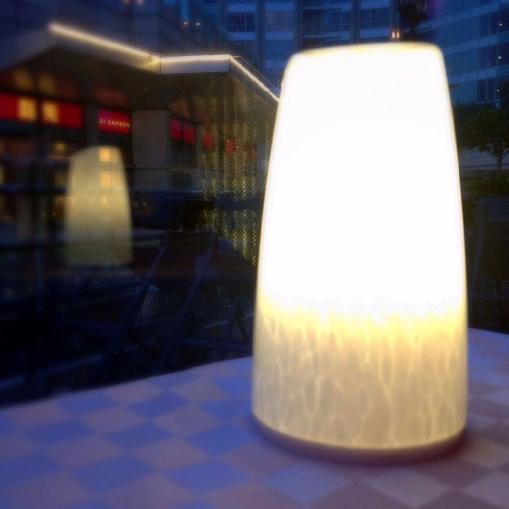 Tops-lighting Cordless Decorative Glass Lamp Shades Table Lamp ...