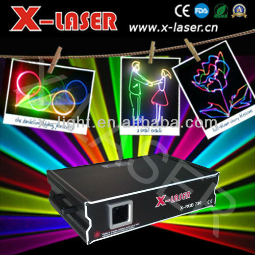 2W full color animation ceiling laser lighting/solid beam laser light