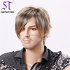 New Fashion Popular Style Short Straight Gray Toupee Wig For Old Man