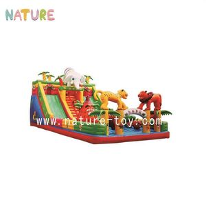 Kids indoor inflatable playground sets favourable price bounce castle playground