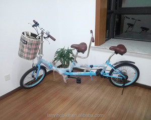 20inch folding tandem bike for lover/6speed surrey bicycle with high quality