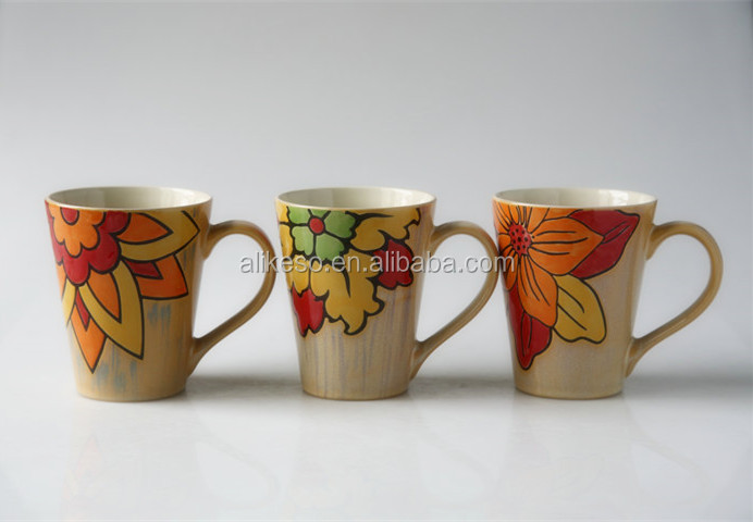 Latest product all kinds of ceramic mug with handle from manufacturer