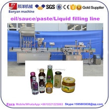Customized glass or plastic bottle automatic beef Shrimp meat mushroom snail sauce filler capper machine