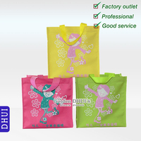 lovely custom printing little girl shopping bag,economical reusable advertisement nonwoven bag