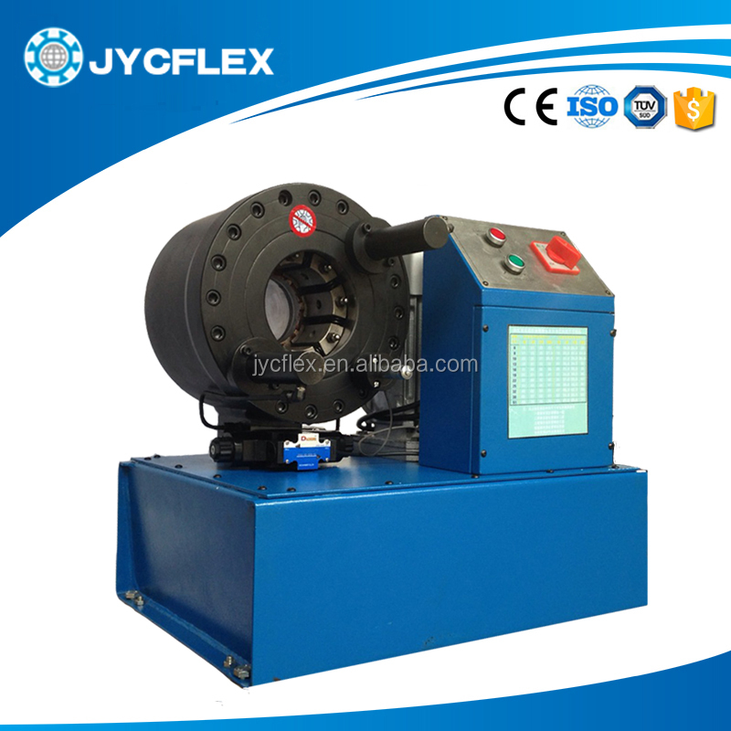 China single wire braid.textile covered hydraulic hose crimping machine