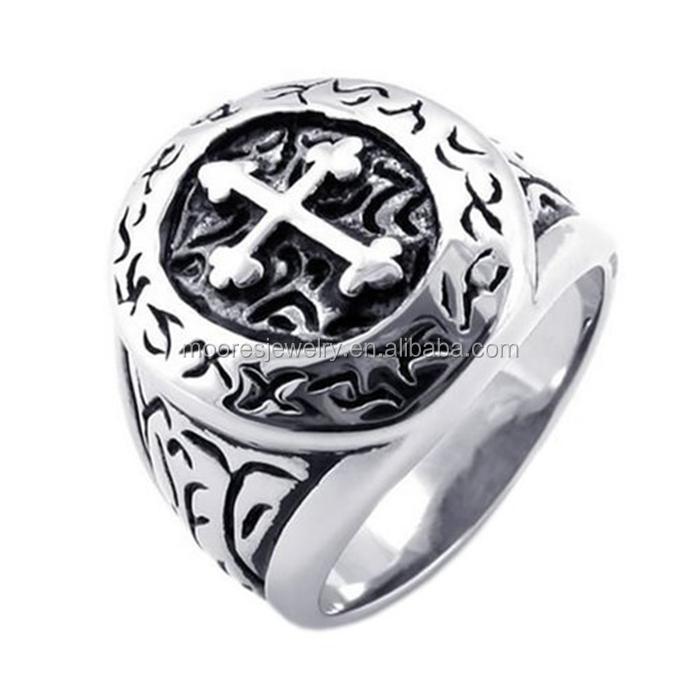 Stainless Steel Wedding Discount Metal Catholic Rosary Cross Rings  Crusaders Religious Jesus Christ Rings (hf-085) - Buy Catholic Rosary