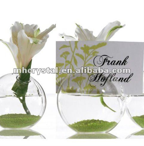 Glass Ball Place Card Holders MH-12505