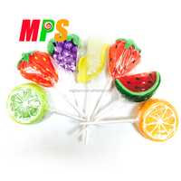 Best Selling Fruit Flavor and Shape Sweet candy lollipop