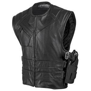 Speed and Strength Men's The Quick and the Dead Black Leather Vest, L